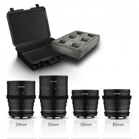 Samyang MF 24/35/50/85 MK2 VDSLR Case Kit Sony E