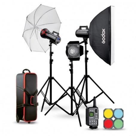 Studio flash kit Godox GSII 2xGS200II GS400II