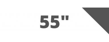 Hasta 55 pulgadas