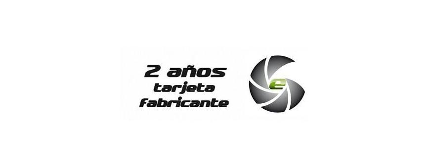 2 años Tarjeta de servicio técnico oficial del fabricante